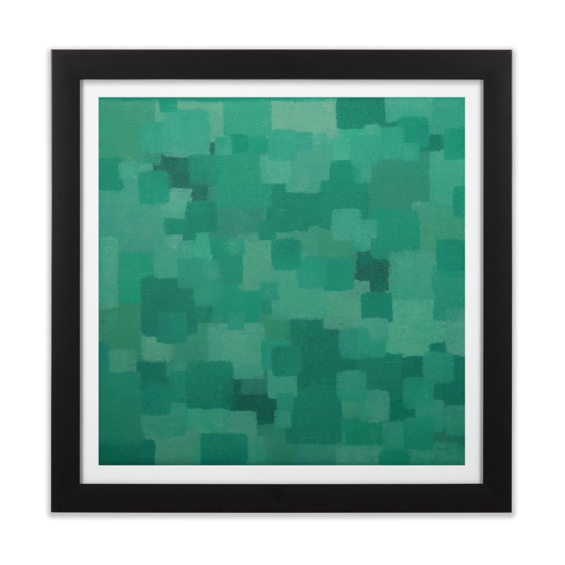 Squares Within Squares Green Home Framed Fine Art Print by Project M's Artist Shop