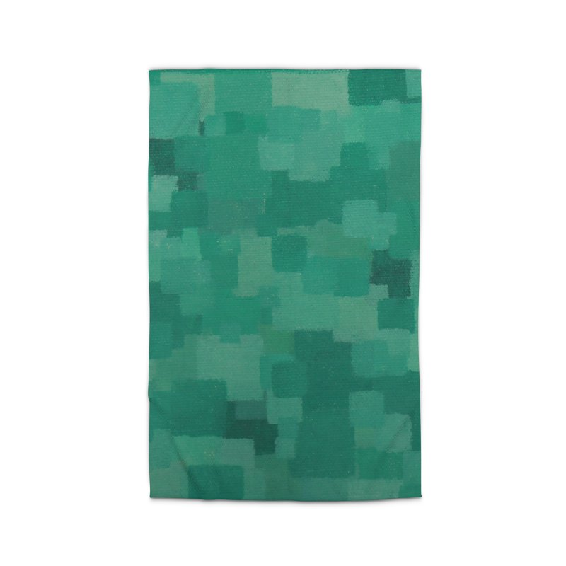 Squares Within Squares Green Home Rug by Project M's Artist Shop