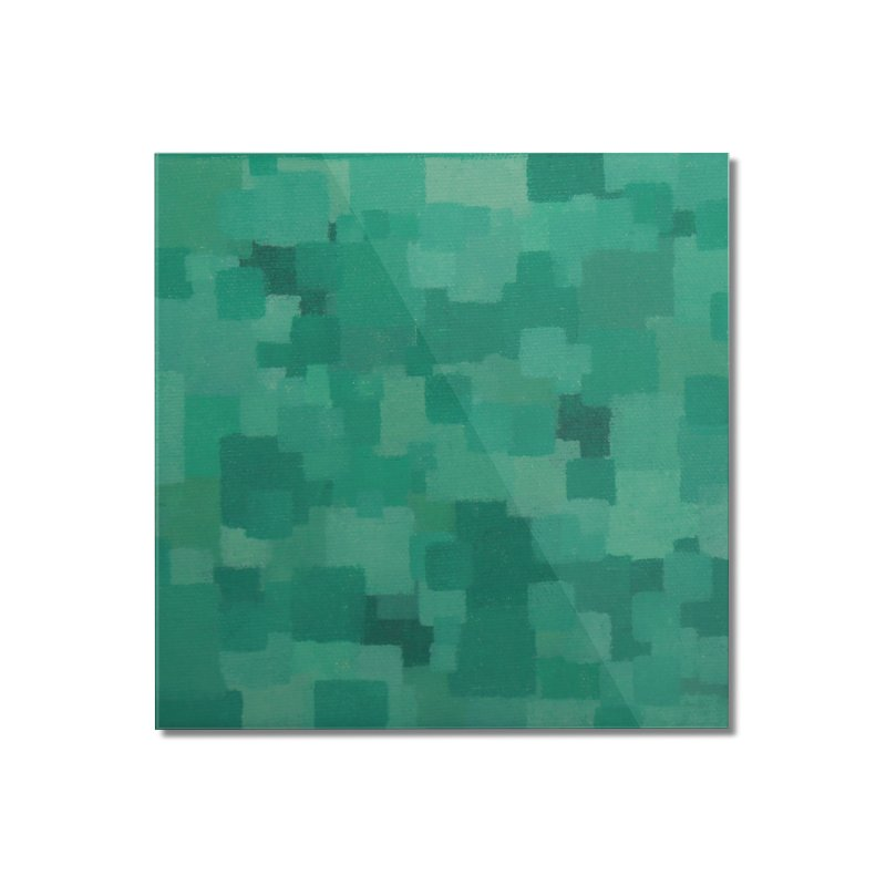 Squares Within Squares Green Home Mounted Acrylic Print by Project M's Artist Shop
