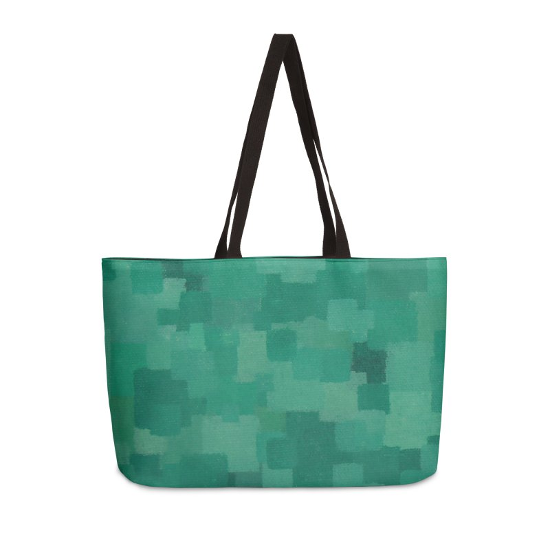 Squares Within Squares Green Accessories Weekender Bag Bag by Project M's Artist Shop