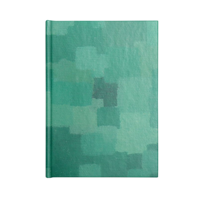 Squares Within Squares Green Accessories Lined Journal Notebook by Project M's Artist Shop