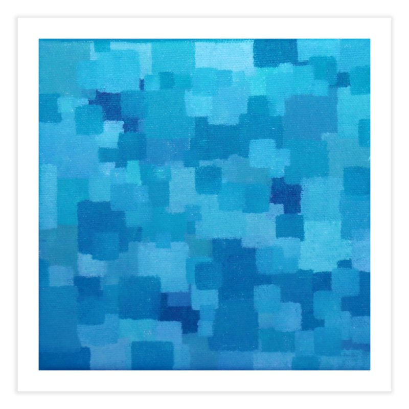 Squares Within Squares Blue Home Fine Art Print by Project M's Artist Shop