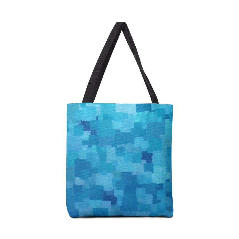 Squares Within Squares Blue Accessories Tote Bag Bag by Project M's Artist Shop