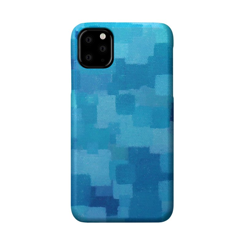 Squares Within Squares Blue Accessories Phone Case by Project M's Artist Shop
