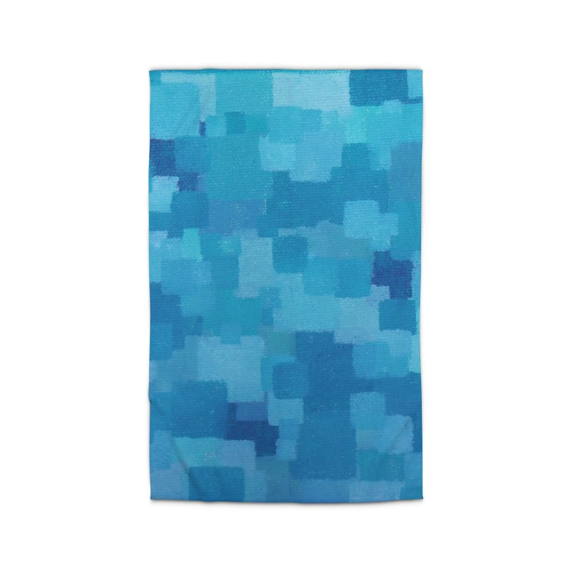 Squares Within Squares Blue Home Rug by Project M's Artist Shop