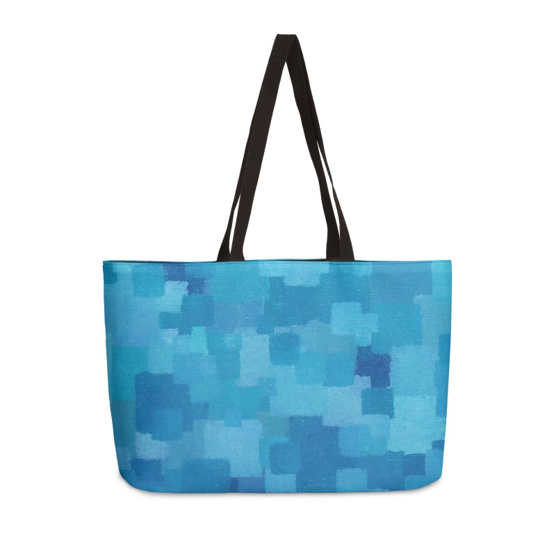 Squares Within Squares Blue Accessories Weekender Bag Bag by Project M's Artist Shop