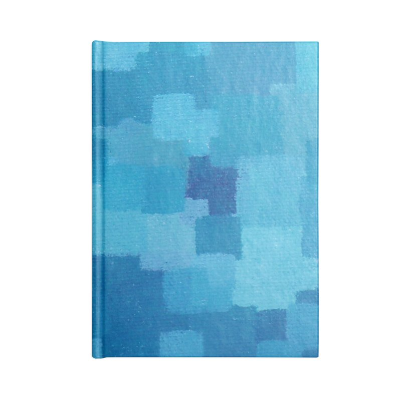 Squares Within Squares Blue Accessories Lined Journal Notebook by Project M's Artist Shop