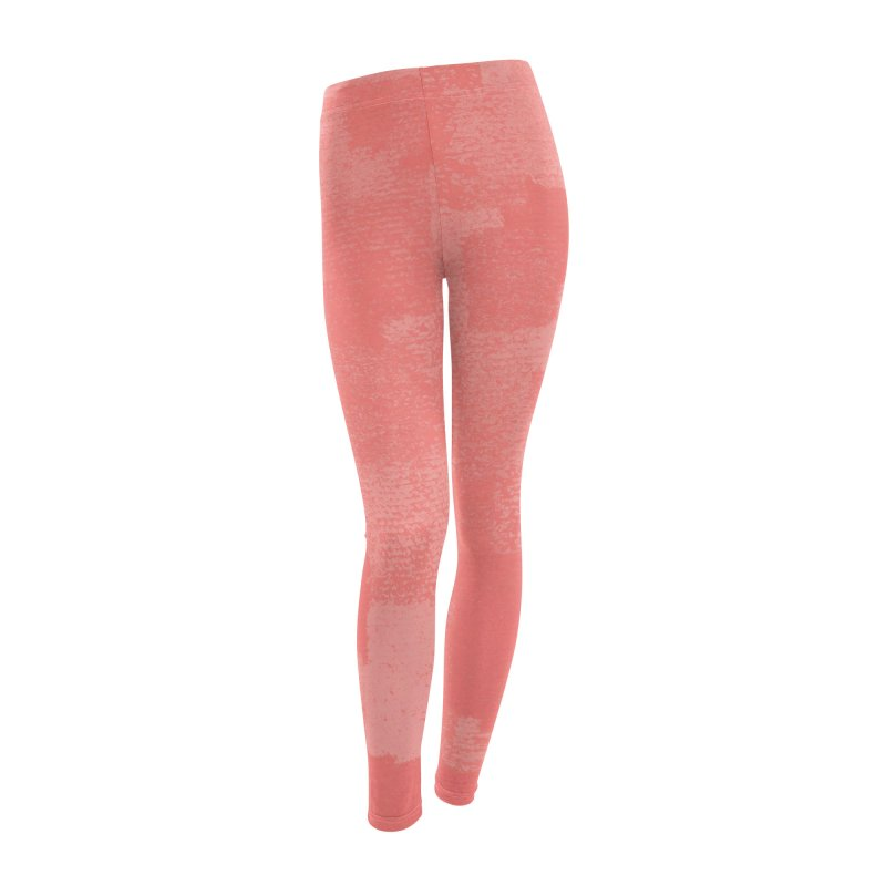 Squares Within Squares Living Coral Women's Leggings Bottoms by Project M's Artist Shop