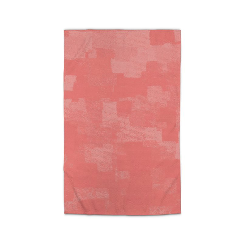 Squares Within Squares Living Coral Home Rug by Project M's Artist Shop