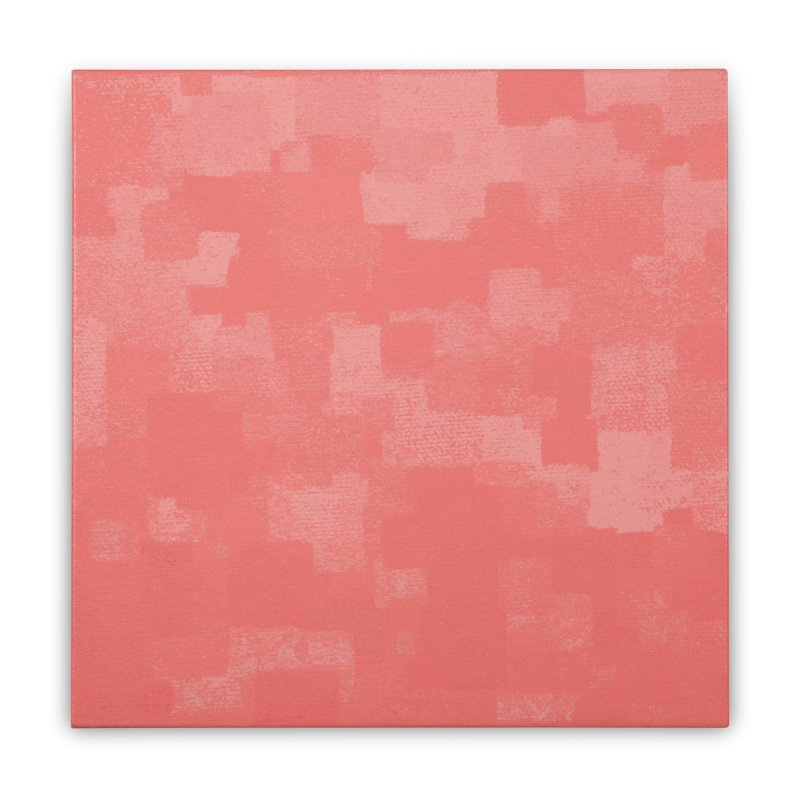 Squares Within Squares Living Coral Home Stretched Canvas by Project M's Artist Shop