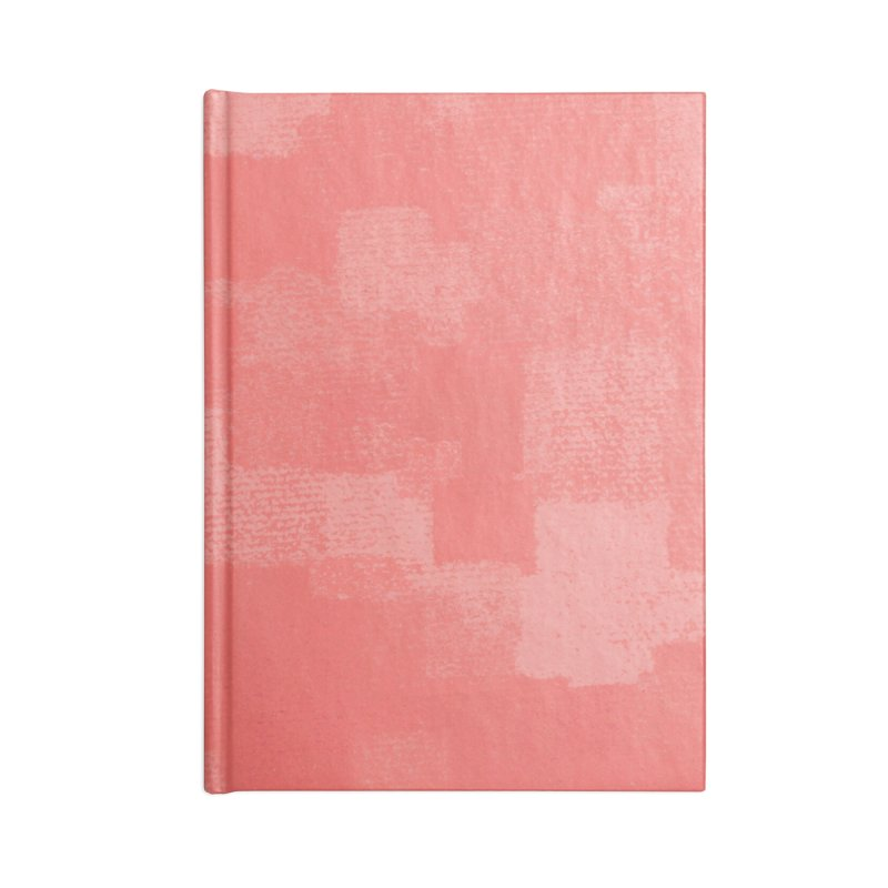Squares Within Squares Living Coral Accessories Lined Journal Notebook by Project M's Artist Shop