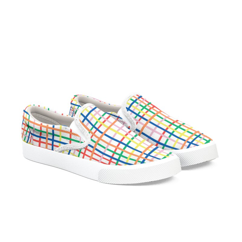 Rainbow Weave Men's Slip-On Shoes by Project M's Artist Shop
