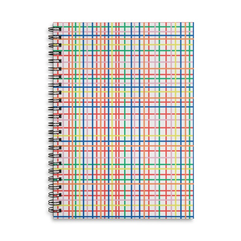 Rainbow Weave Accessories Lined Spiral Notebook by Project M's Artist Shop