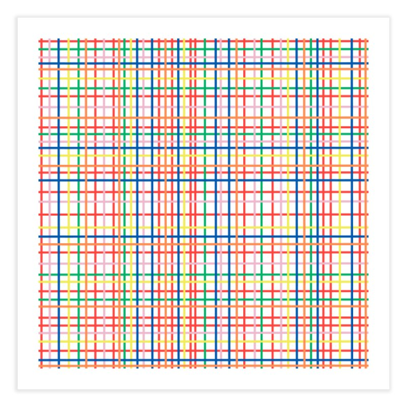 Rainbow Weave Home Fine Art Print by Project M's Artist Shop