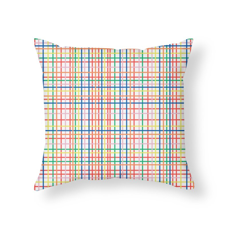 Rainbow Weave Home Throw Pillow by Project M's Artist Shop