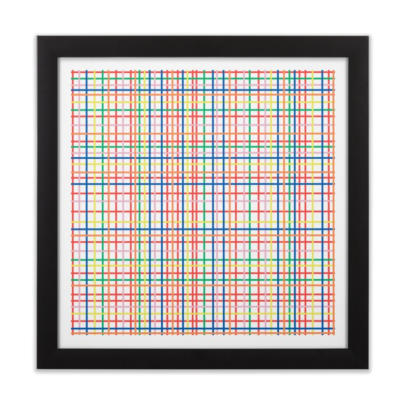 Rainbow Weave Home Framed Fine Art Print by Project M's Artist Shop