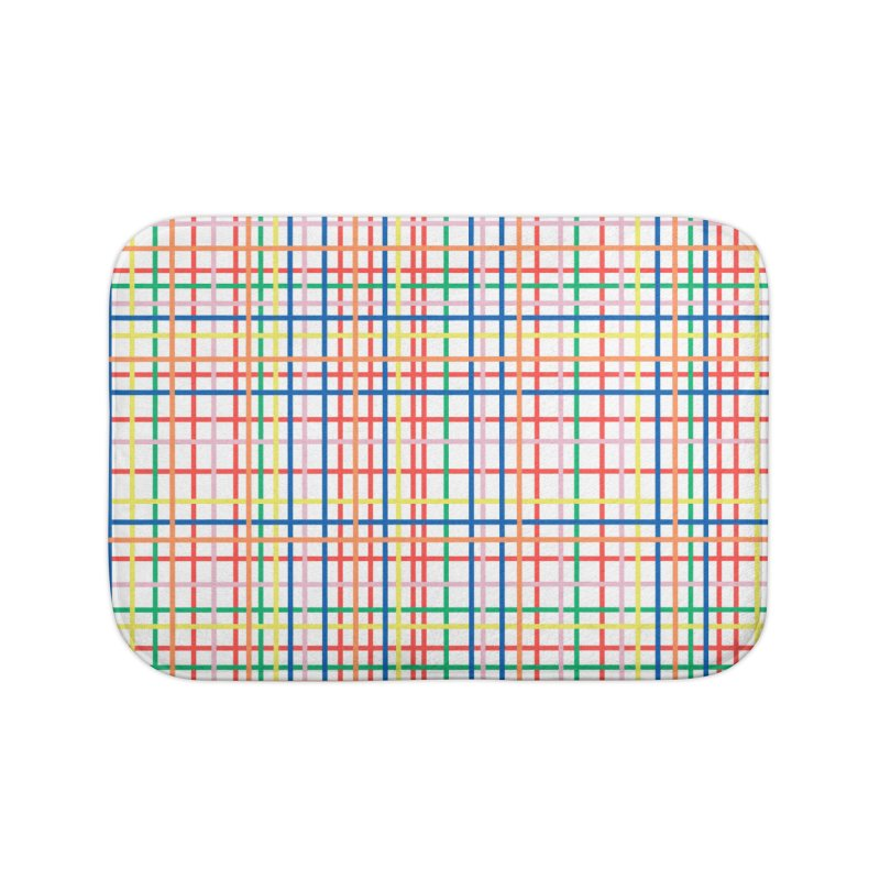 Rainbow Weave Home Bath Mat by Project M's Artist Shop