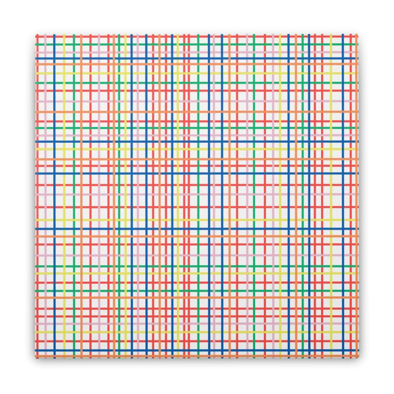 Rainbow Weave Home Stretched Canvas by Project M's Artist Shop