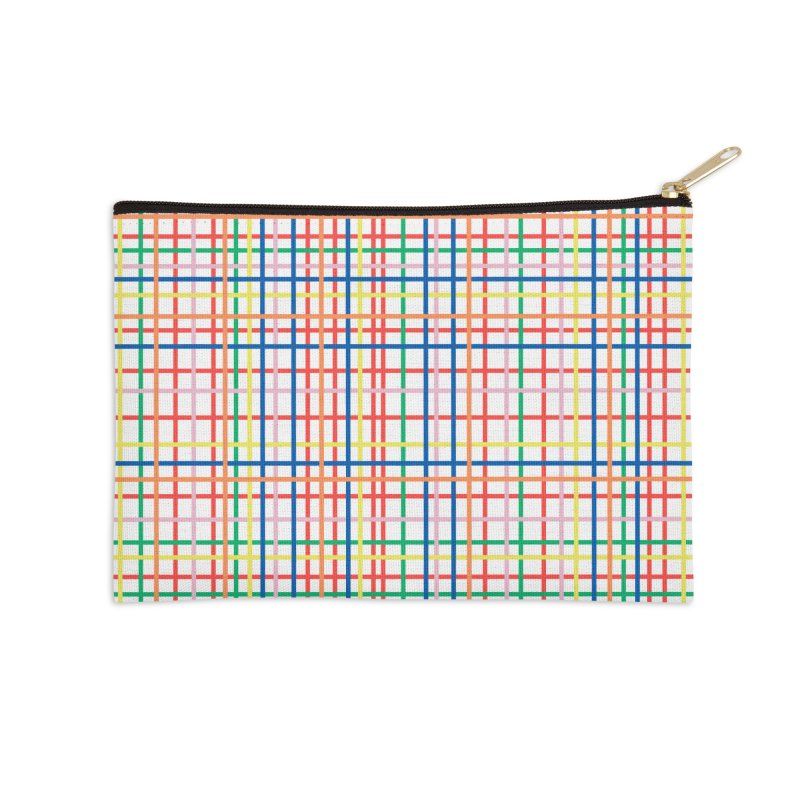 Rainbow Weave Accessories Zip Pouch by Project M's Artist Shop