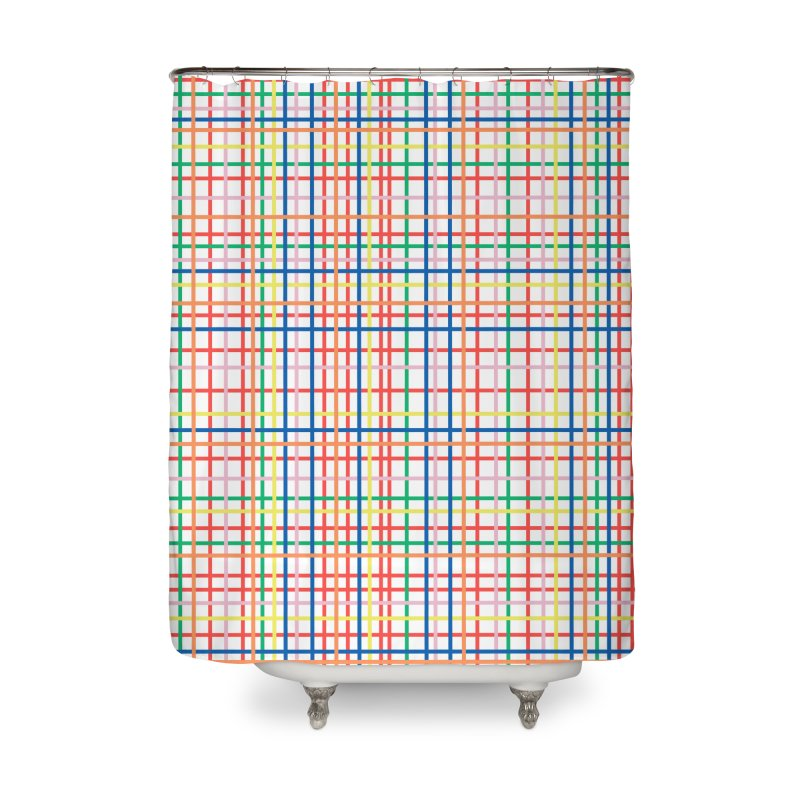 Rainbow Weave Home Shower Curtain by Project M's Artist Shop
