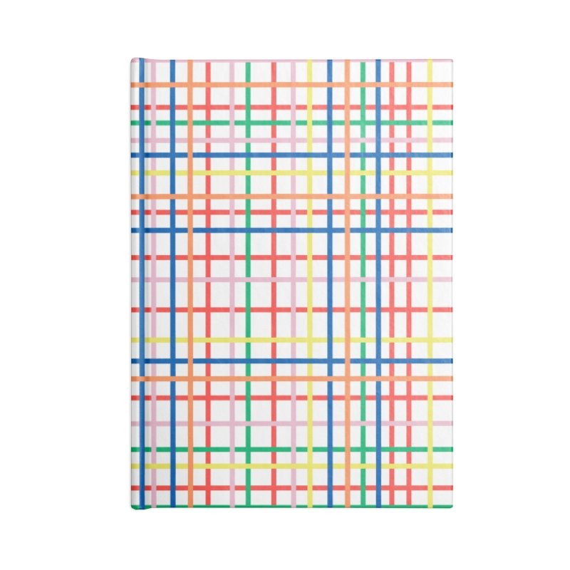 Rainbow Weave Accessories Lined Journal Notebook by Project M's Artist Shop