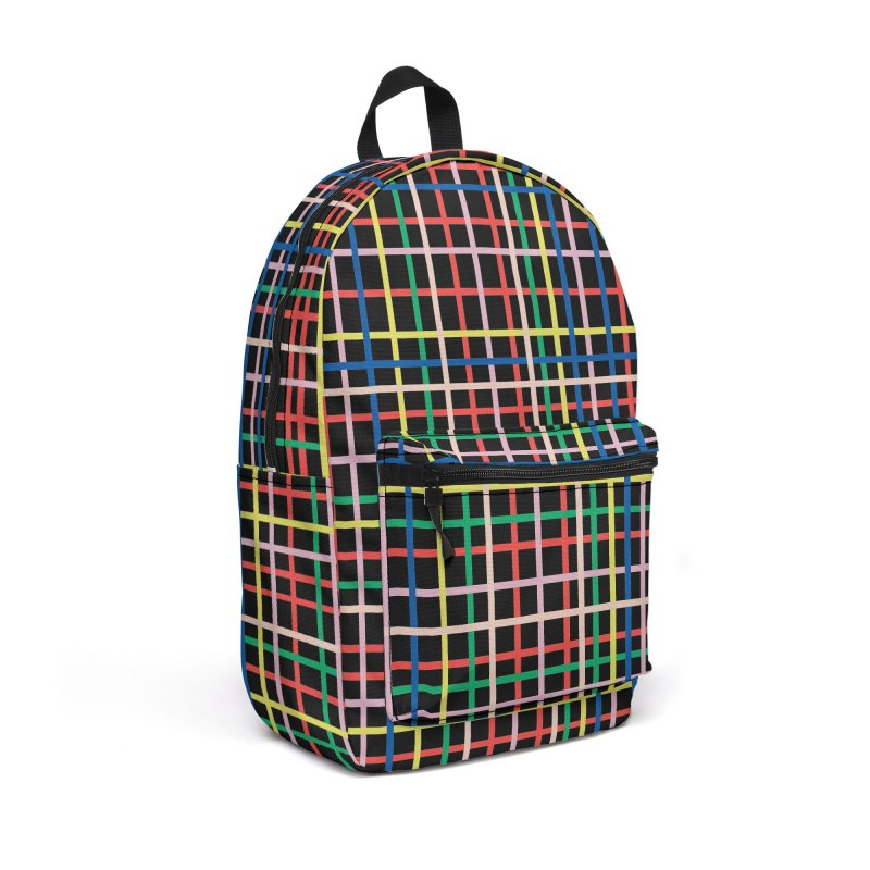 Rainbow Weave B Accessories Backpack Bag by Project M's Artist Shop
