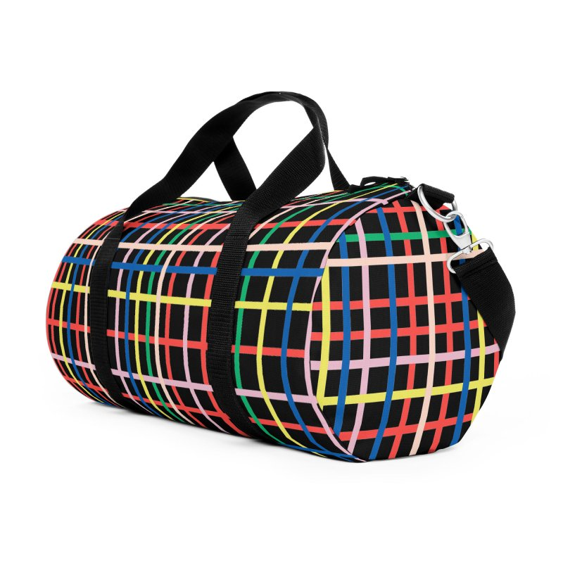 Rainbow Weave B Accessories Duffel Bag Bag by Project M's Artist Shop