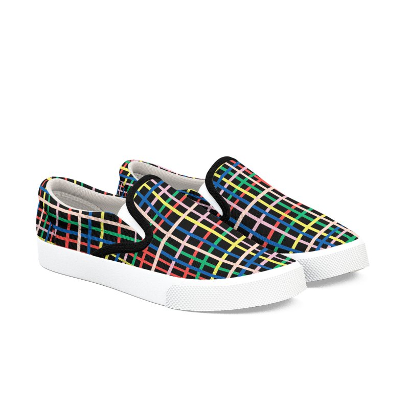 Rainbow Weave B Men's Slip-On Shoes by Project M's Artist Shop