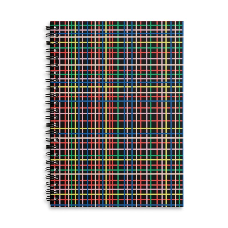 Rainbow Weave B Accessories Lined Spiral Notebook by Project M's Artist Shop