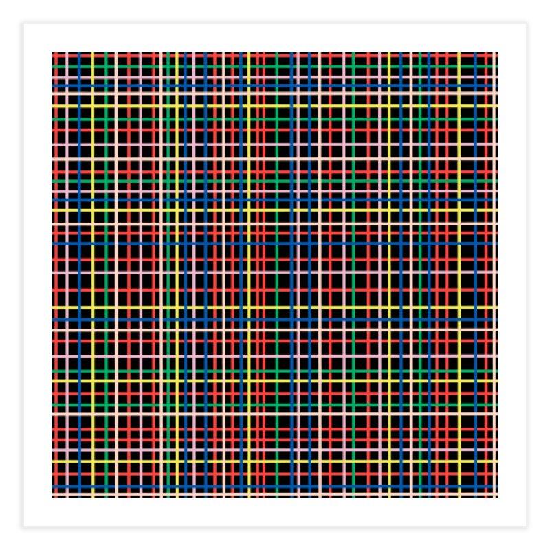 Rainbow Weave B Home Fine Art Print by Project M's Artist Shop