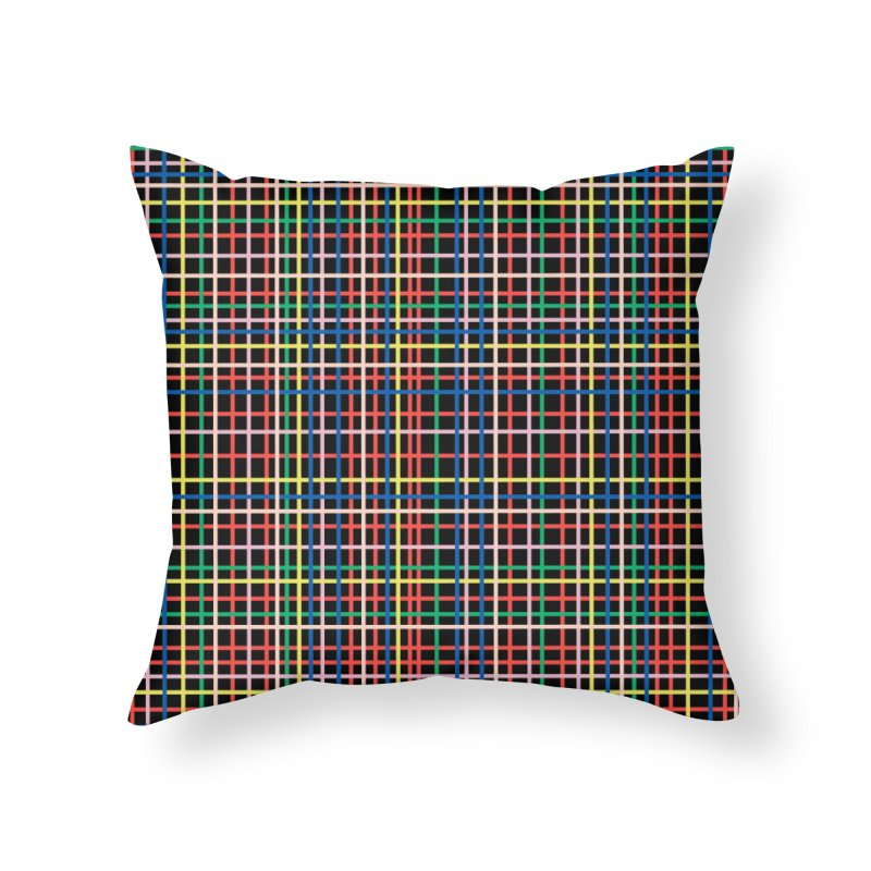 Rainbow Weave B Home Throw Pillow by Project M's Artist Shop
