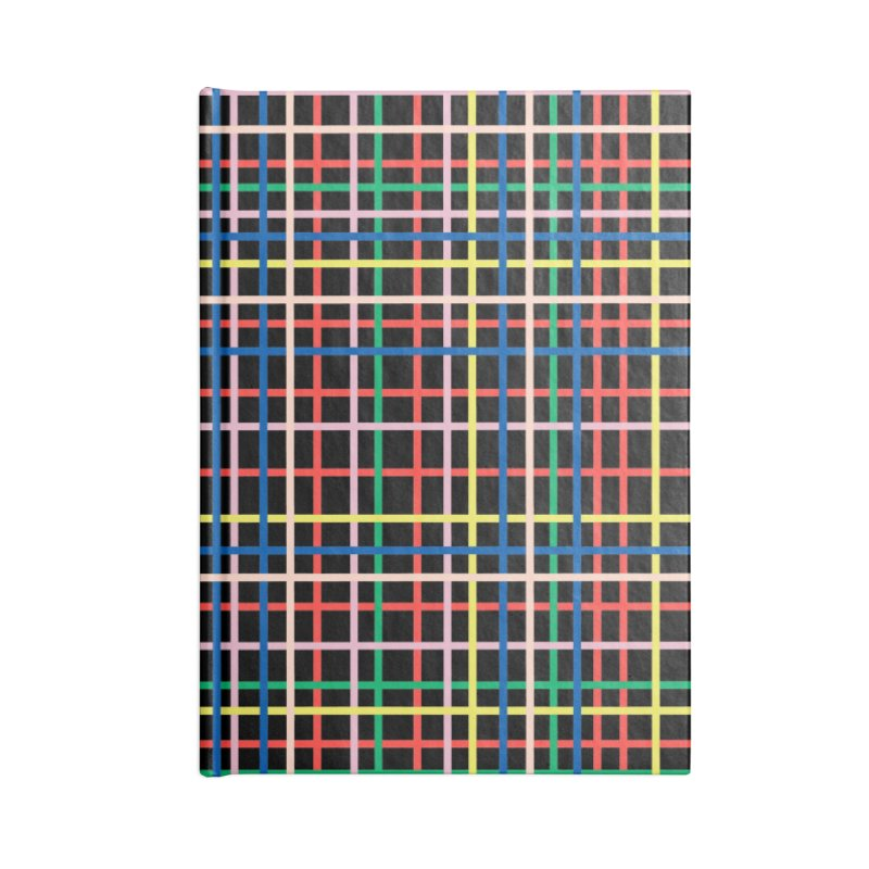 Rainbow Weave B Accessories Lined Journal Notebook by Project M's Artist Shop