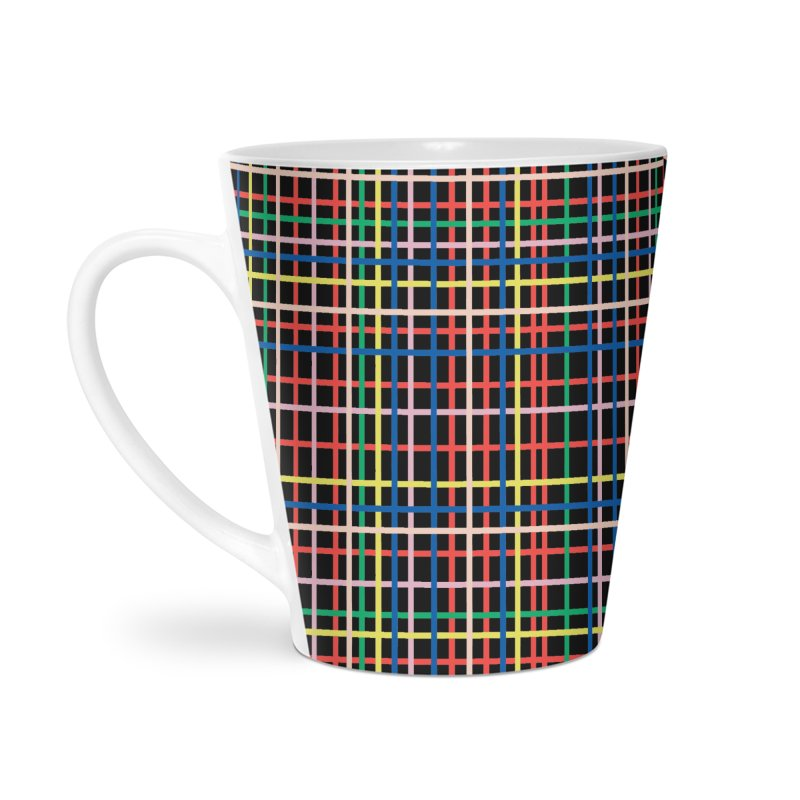 Rainbow Weave B Accessories Latte Mug by Project M's Artist Shop