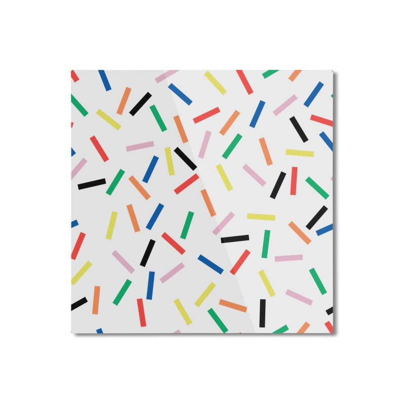 Sprinkles Fresh Home Mounted Aluminum Print by Project M's Artist Shop