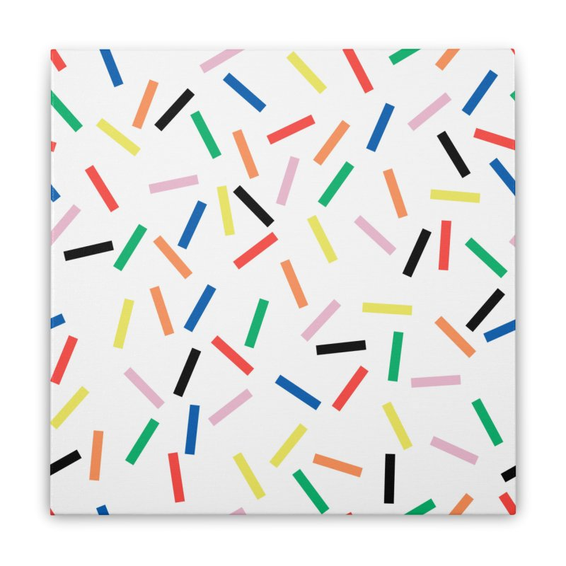Sprinkles Fresh Home Stretched Canvas by Project M's Artist Shop