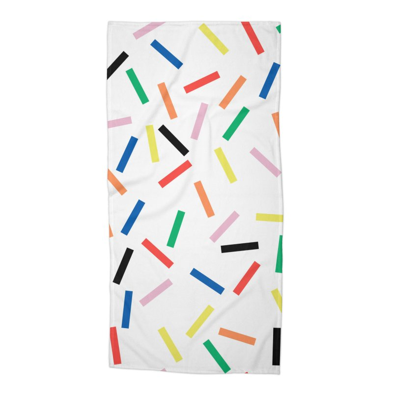 Sprinkles Fresh Accessories Beach Towel by Project M's Artist Shop