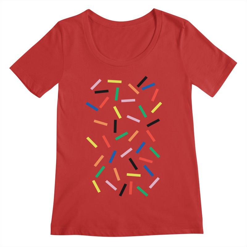 Sprinkles Fresh Women's Regular Scoop Neck by Project M's Artist Shop