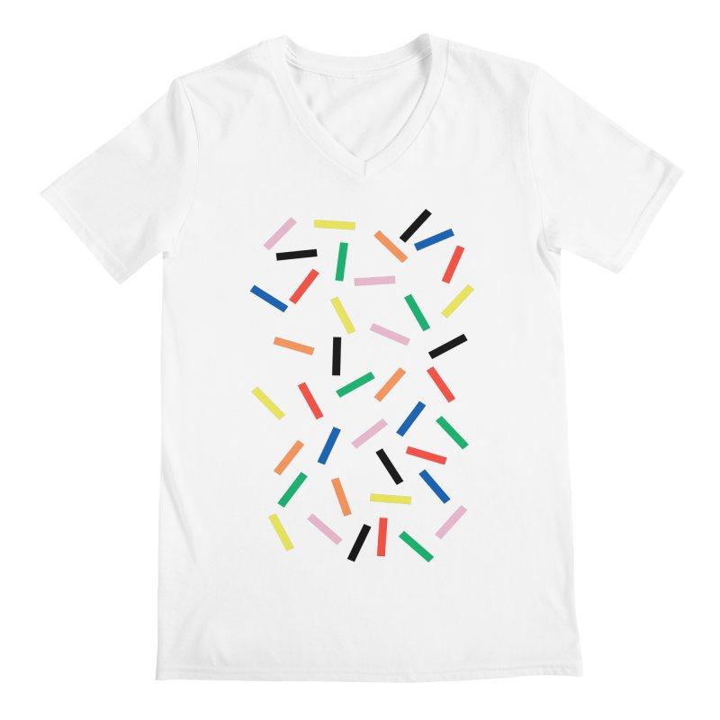 Sprinkles Fresh Men's Regular V-Neck by Project M's Artist Shop