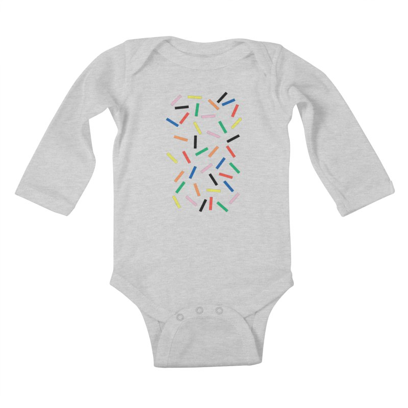 Sprinkles Fresh Kids Baby Longsleeve Bodysuit by Project M's Artist Shop