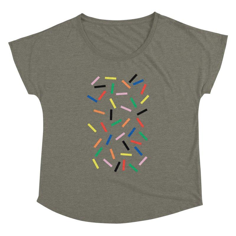 Sprinkles Fresh Women's Dolman Scoop Neck by Project M's Artist Shop