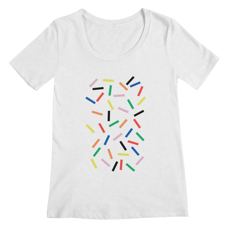 Sprinkles Fresh Women's Regular Scoop Neck by Project M's Artist Shop