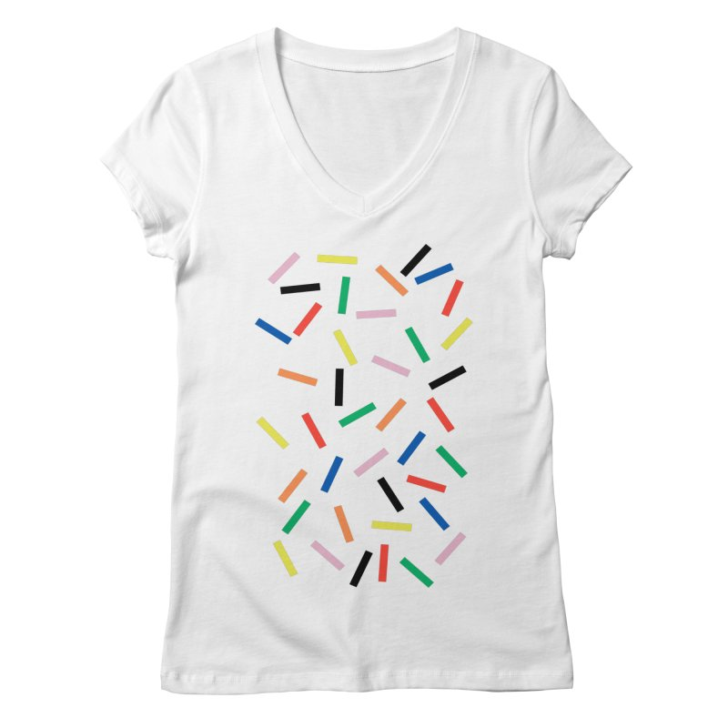 Sprinkles Fresh Women's Regular V-Neck by Project M's Artist Shop
