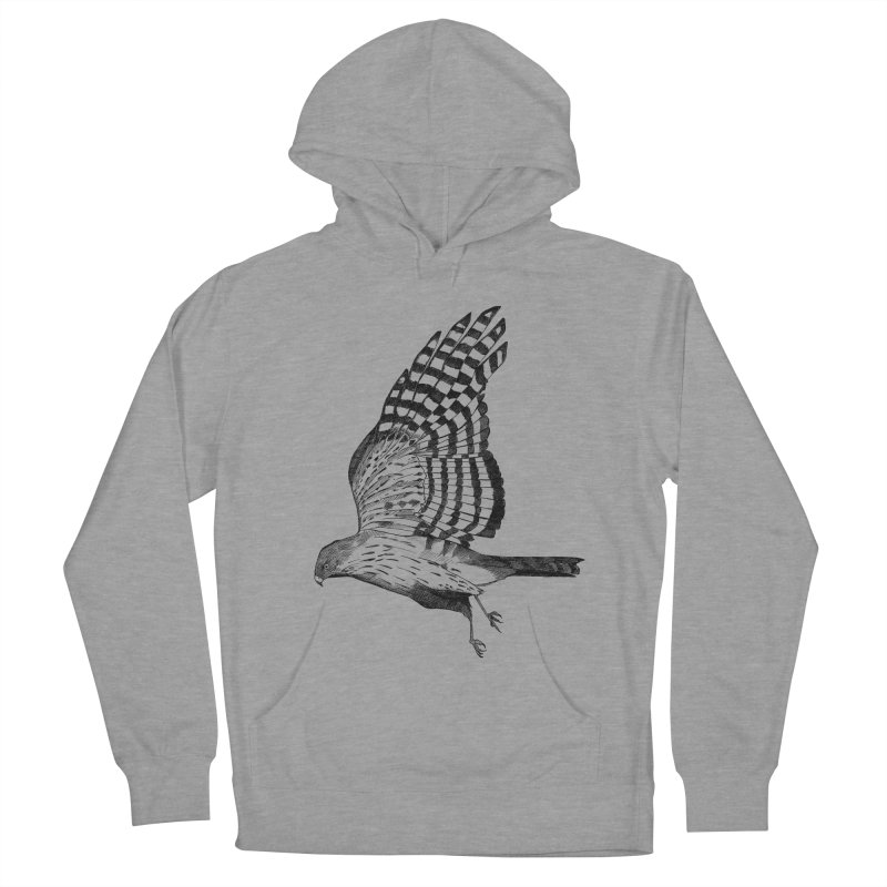 Hawk in Men's Pullover Hoody Heather Graphite by Project Monster Studios T-Shirt Shop