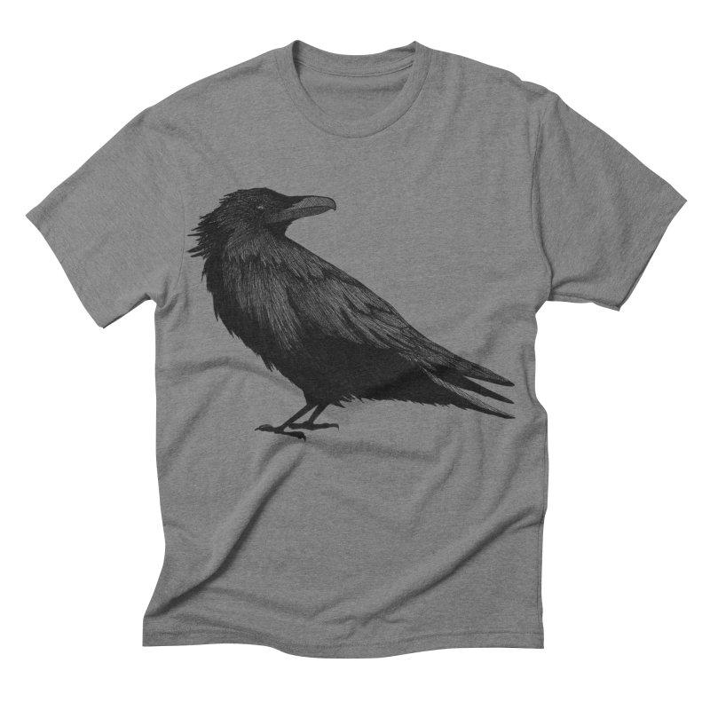 Raven in Men's Triblend T-shirt Grey Triblend by Project Monster Studios T-Shirt Shop