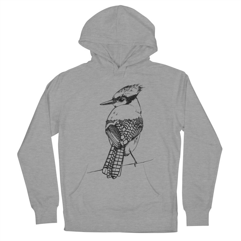 Blue jay in Men's Pullover Hoody Heather Graphite by Project Monster Studios T-Shirt Shop