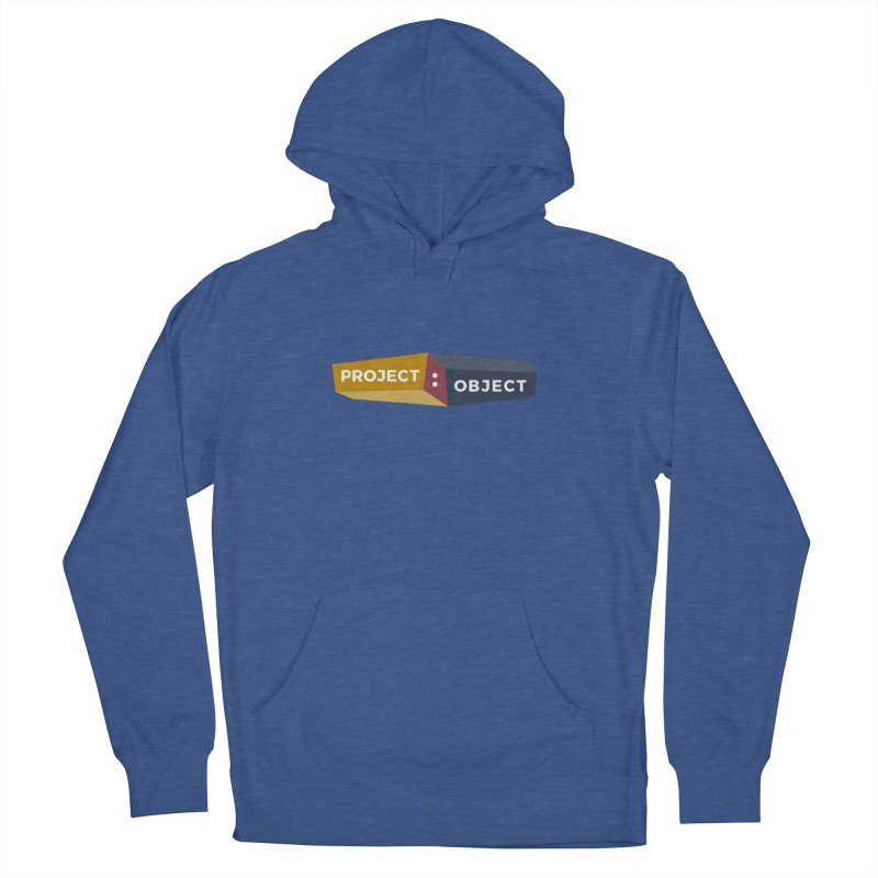 Project:Object Logo in Men's French Terry Pullover Hoody Heather Royal by PROJECT:OBJECT Objects
