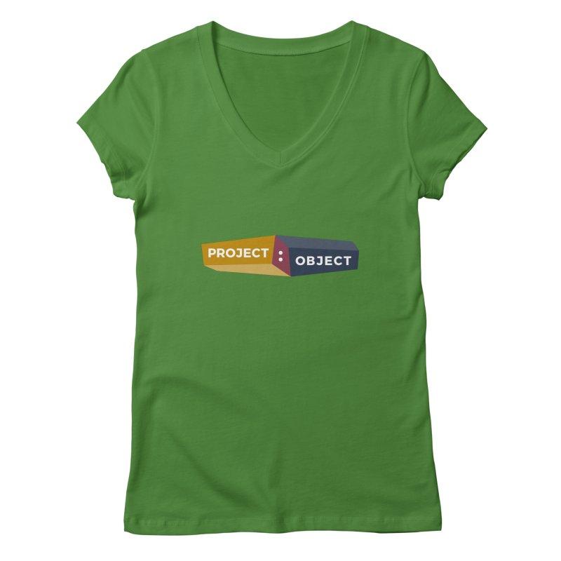 Project:Object Logo Women's Regular V-Neck by PROJECT:OBJECT Objects