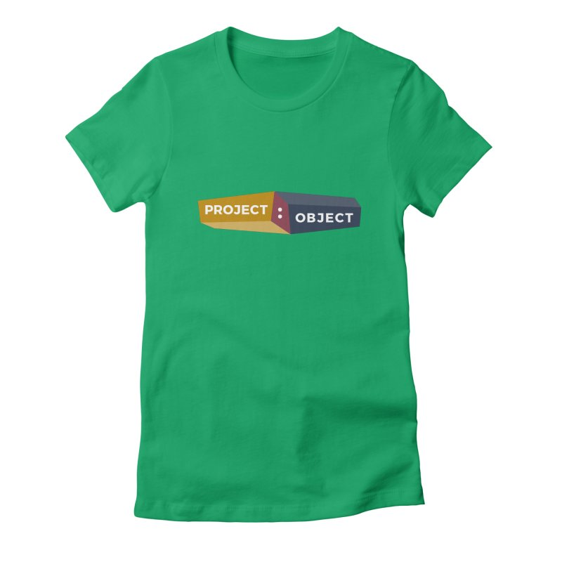 Project:Object Logo Women's Fitted T-Shirt by PROJECT:OBJECT Objects