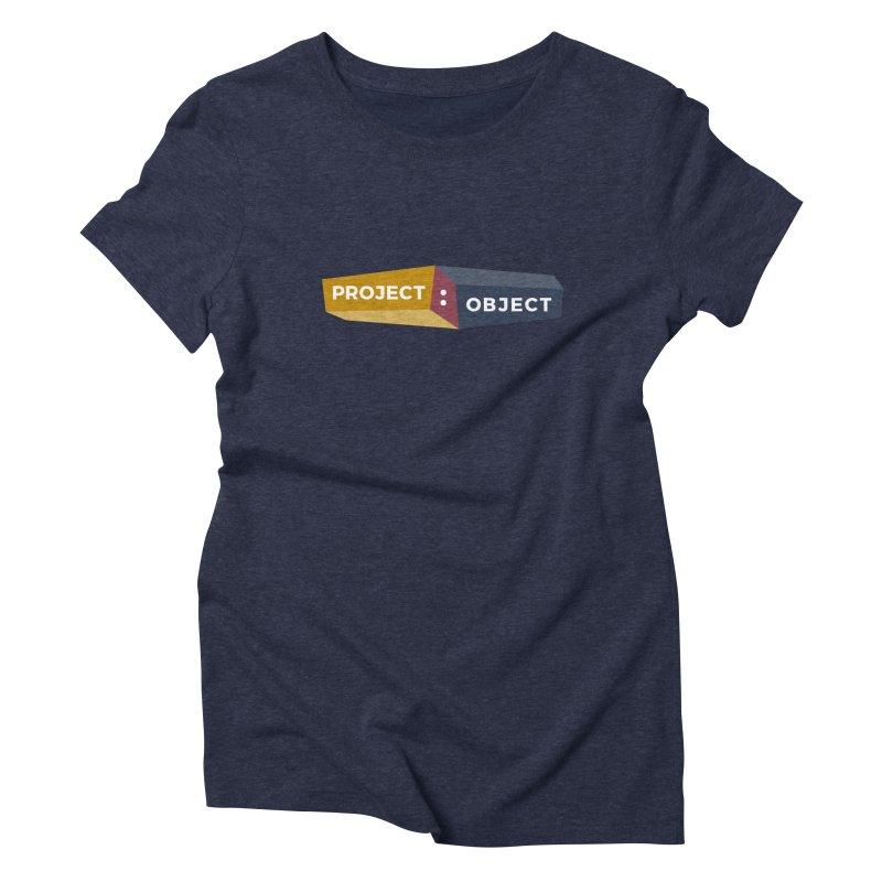 Project:Object Logo Women's Triblend T-Shirt by PROJECT:OBJECT Objects