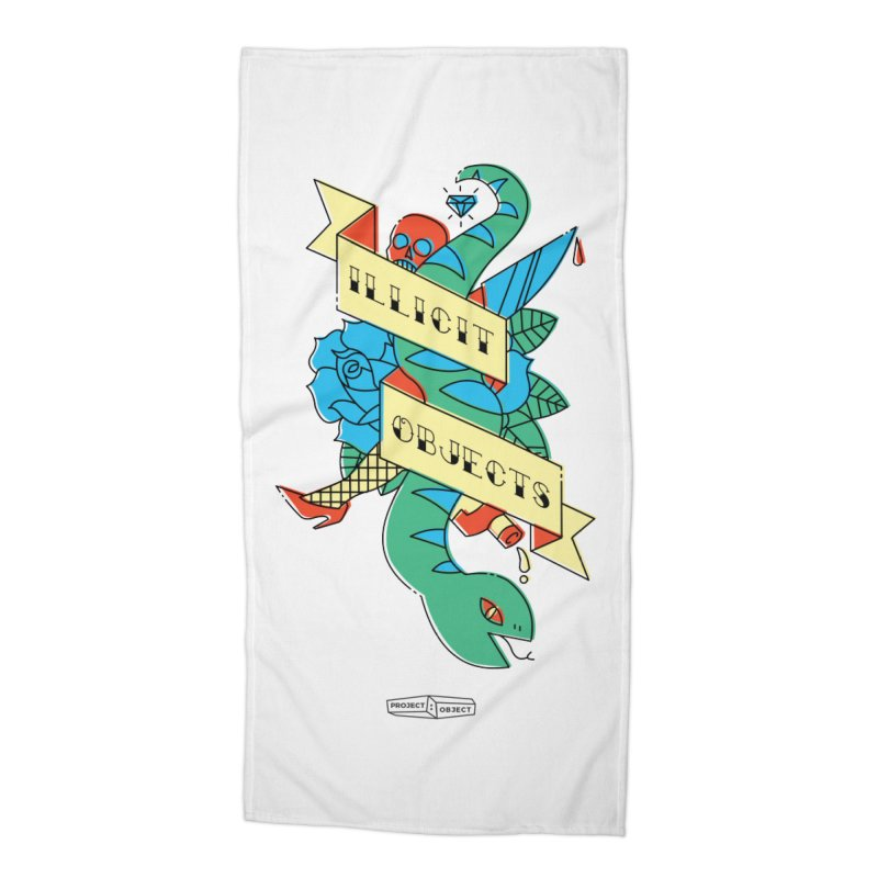 ILLICIT OBJECTS in Beach Towel by PROJECT:OBJECT Objects! Proceeds go to the ACLU